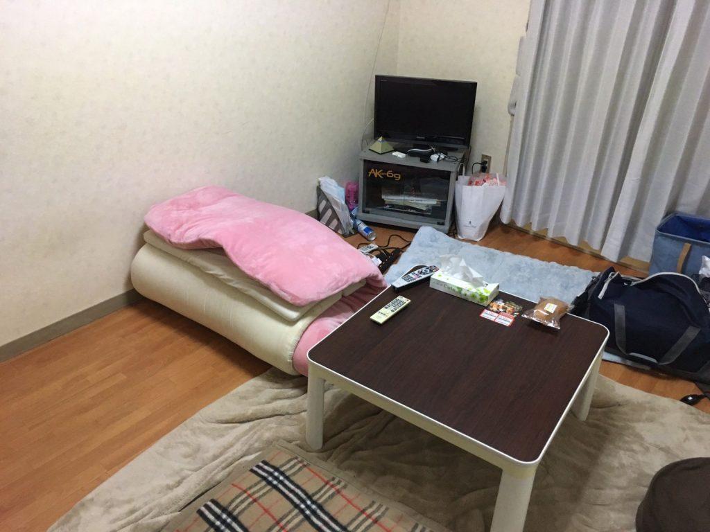 山口りょうがくんの清掃後の部屋。必要なものだけが整理整頓されている画像。