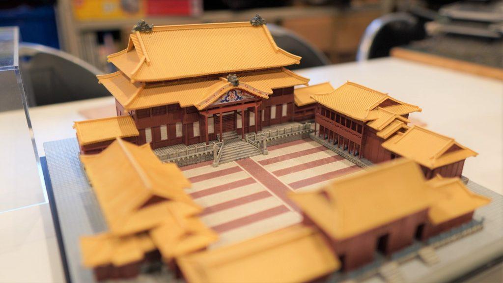 首里城の模型全体を撮影した画像。