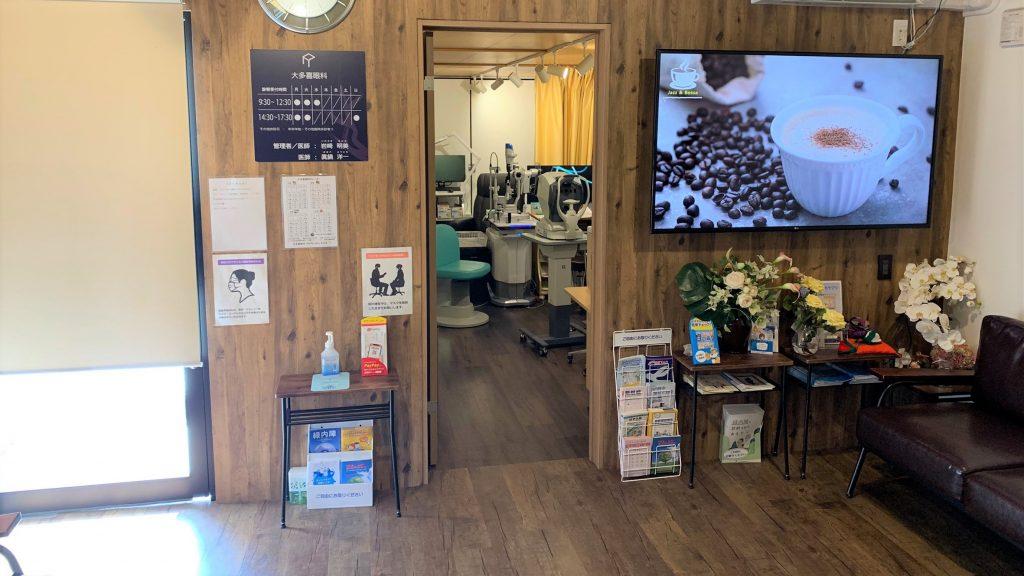 待合室側から診察室の入り口を撮影した画像。